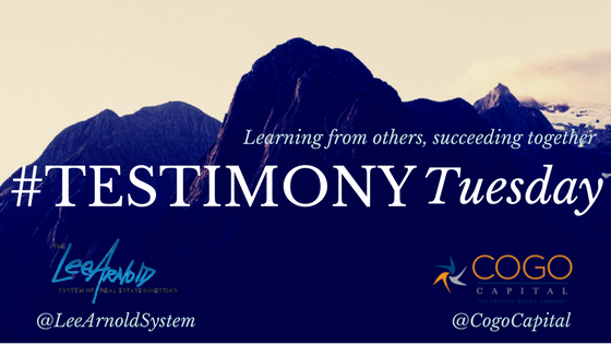 Testimony Tuesday - Cogo Capital