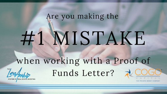 Are You Making The Number One Mistake With The Proof Of Funds Letter - Cogo Capital