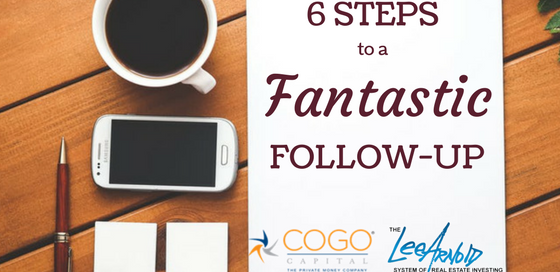 6 Steps To A Fantastic Followup - Cogo Capital