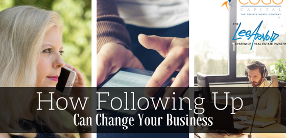 How Following Up Can Change Your Business - Cogo Capital
