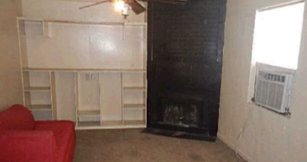 Before - Living Room - Fix & Flip - Farmersville, TX