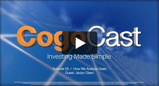 S1E3 - How we analyze deals with Jaclyn Olsen - CogoCast
